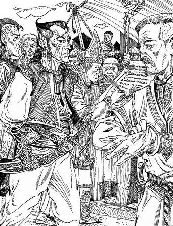 Tratado elfos Marienburgo por Russ Nicholson