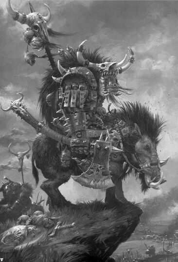 Kaudillo Orco en Jabalí por Adrian Smith
