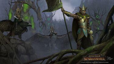 Guardianes del bosque Elfos Silvanos por Milek Jakubiec Warhammer Total War