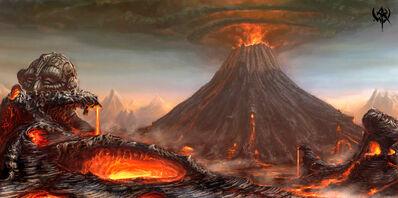 Montaña del Trueno Karag Dron Warhammer Online Volcán