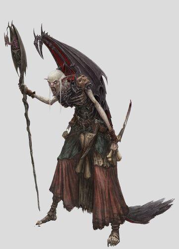 Zacharius Vampiro Necrarca Warhammer Online por Michael Phillippi