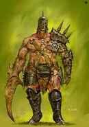 Bárbaro del Caos Nurgle (1) por Adrian Smith