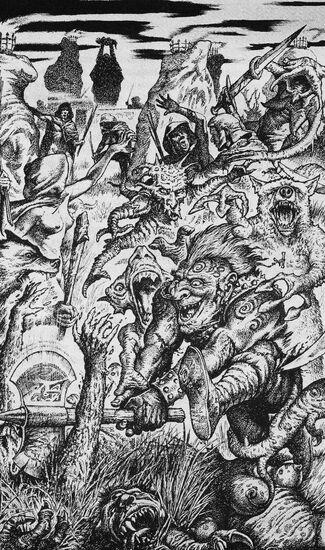 Geheismnisacht por John Sibbick Gotrek y Felix