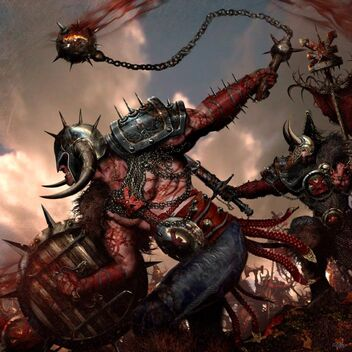 War Cry Bárbaros de Khorne por Clint Langley
