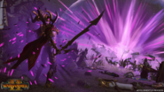 Malekith invocando magia negra warhammer total war