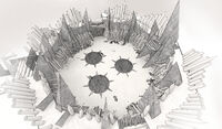Arena campamento caos concept art vermintide 2 por Patrick Rosander