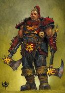 Berserker de Khorne por Adrian Smith Bárbaro del Caos