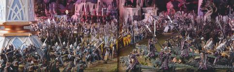 Masacre en la puerta del aguila elfos oscuros altos elfos