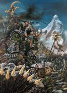 Portada Libro de ejército Orcos y Goblins 6ª edición por Adrian Smith