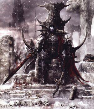 Portada Señor de la Destrucción Malus Darkblade por Clint Langley