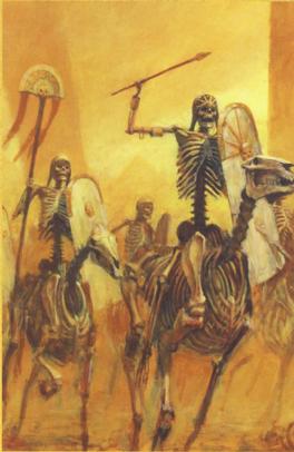 Ilustracion jinetes esqueleto