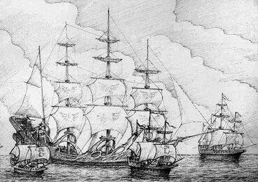 Barcos y naves por Tony Ackland