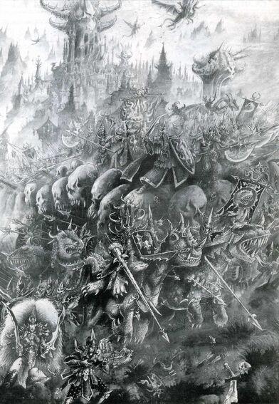Ejército Elfos Oscuros por John Blanche