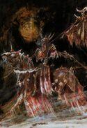 Caballero Negro en Corcel Esquelético por John Blanche