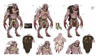 Rey Necrófago Strigoy boceto por Theo Stylianides Warhammer Online