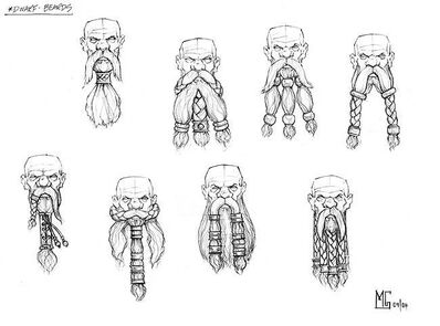 Boceto Barbas Enanas por Mark Gibbons