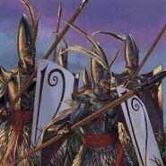 Lanceros Altos Elfos por Adrian Smith