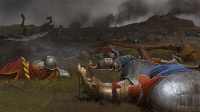 Tras la batalla por Milek Jakubiec Bretonia Warhammer Total War