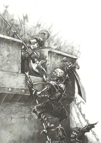 Esqueletos asediando