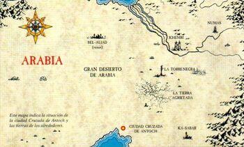 Mapa Antoch Arabia 5ª Edición ilustración