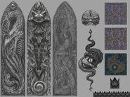 Arquitectura Tzeentch texturas Warhammer Online por Michael Phillippi