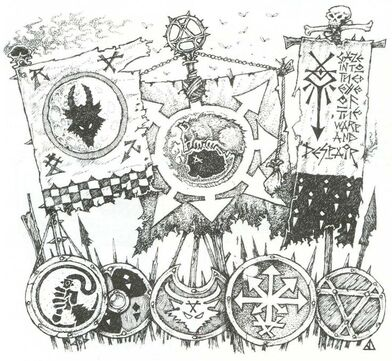 Estandartes y Escudos Skavens por Jes Goodwin