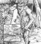 Mutante bosque por Russ Nicholson