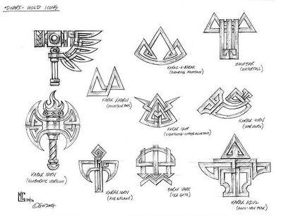 Símbolos Fortalezas Enanos por Mark Gibbons