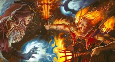 Hechicero Brillante contra Mago del Caos