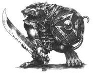 Guerrero de Clan Skaven por Mark Gibbons