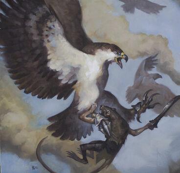 Águila con Garras de Hierro por Tom Babbey Águila Gigante