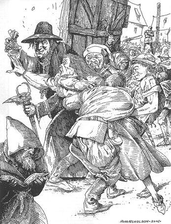 Cazador de Brujas por Russ Nicholson