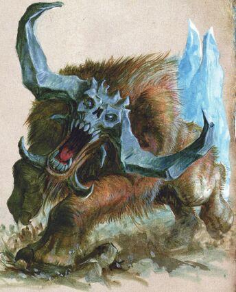 Cuernos Pétreos Reinos Ogros WD198 ilustración color