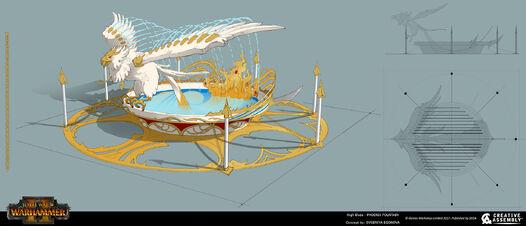 Fuente fenix warhammer total war concept art por Evgeniya Egorova