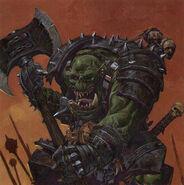 Grimgor Piel'ierro por Adrian Smith