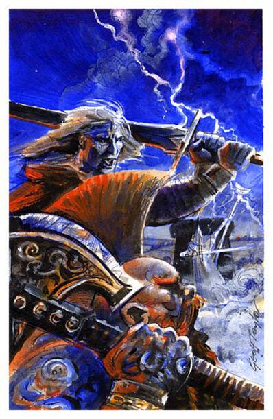 Boceto portada Matagigantes por Geoff Taylor