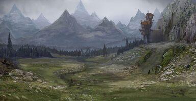Warhammer Total War Montañas 01 Arte conceptual