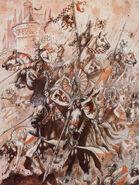 Caballeros del Reino por John Blanche Bretonia