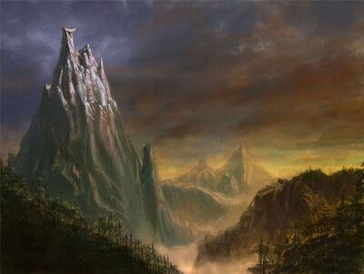 Monte Cuerno Ensangrentado Warhammer Online por Michael Phillippi