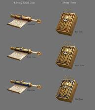 Tomos y pergaminos Reyes Funerarios por Sven Bybee
