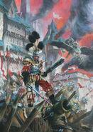 Portada Libro de Ejército El imperio octava por Paul Bonner