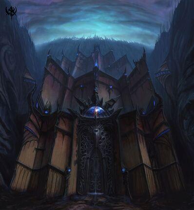 Warhammer Online Ciudad Ineludible Puertas de las Ciudad por Michael Phillippi