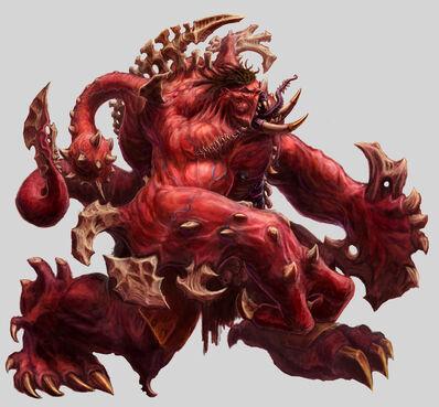 Engendro del Caos de Khorne Warhammer Online por Michael Phillippi