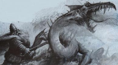 Enano matando dragon