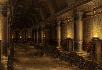 Pasillo templo Reyes Funerarios por Sven Bybee