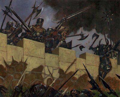 Adrian Smith Guerreros del Caos contra Imperio Murallas