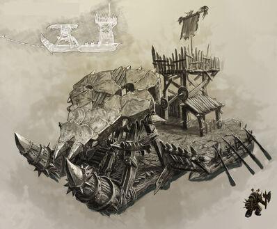 Nave Barco Orcos y Goblins por Michael Phillippi Warhammer Online