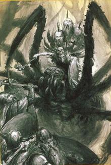 Araña Gigantesca según el libro de ejercito de Orcos y Goblins (8ª edición)