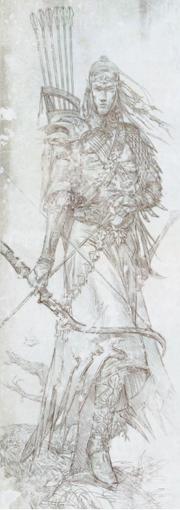 Boceto elfo silvano