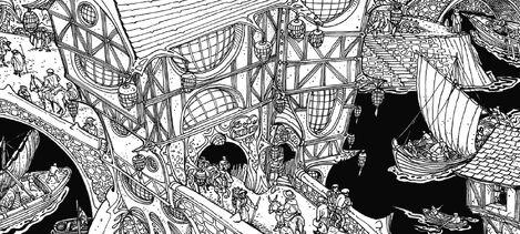 Cabaret y Casino El Trio por Russ Nicholson Marienburgo
